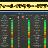 FPネイマールとFPサラーとFPアザールのレベマ総合値比較