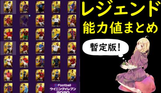 【ウイイレ2020】レジェンド能力値暫定版!ライブアプデB固定でのおすすめ選手は?【PS4&アプリ】